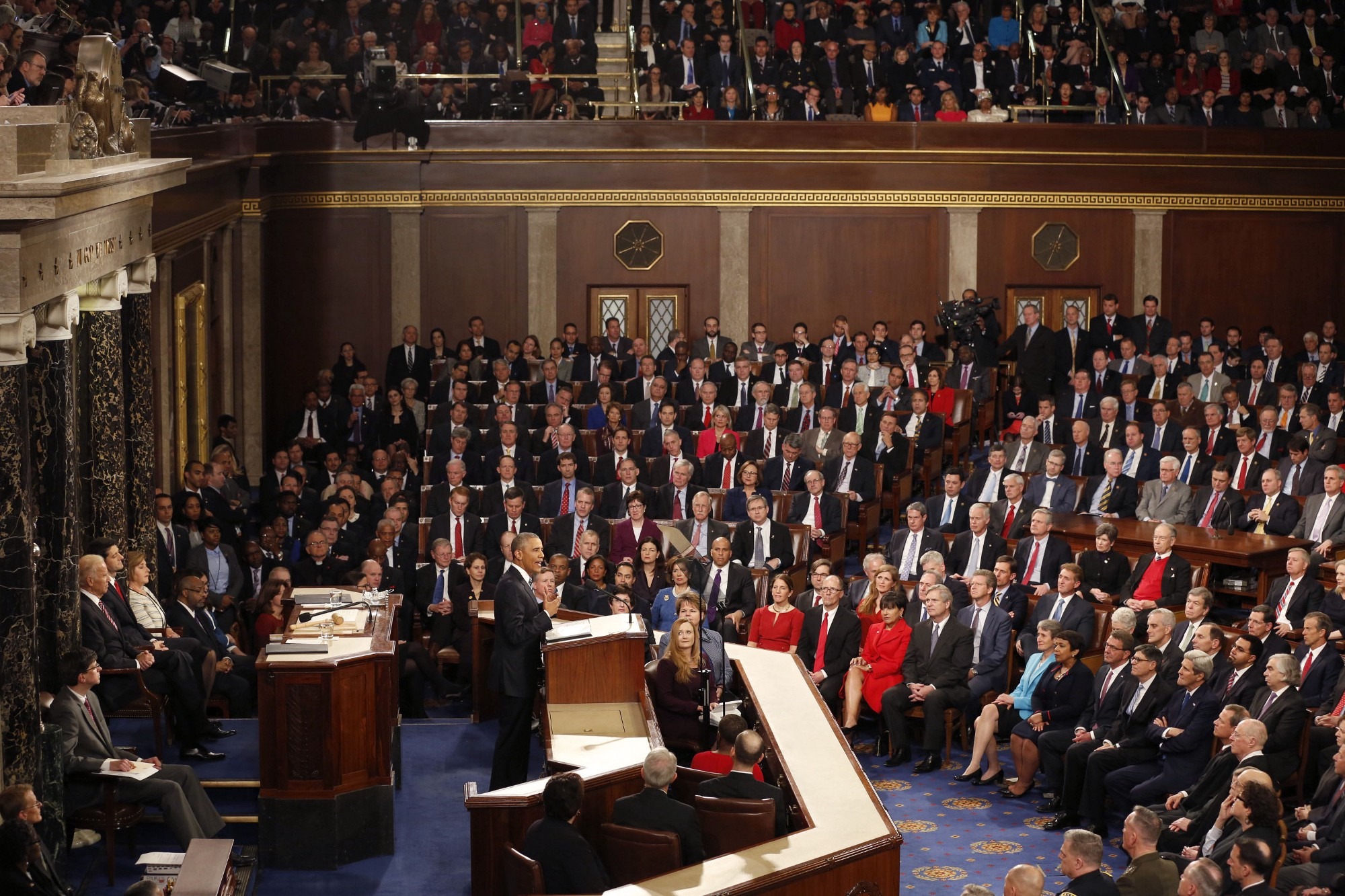 President Obama delivering the State of the Union