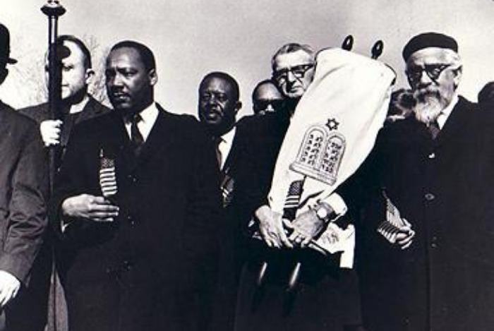 Martin Luther King and Rabbi Gendler walking