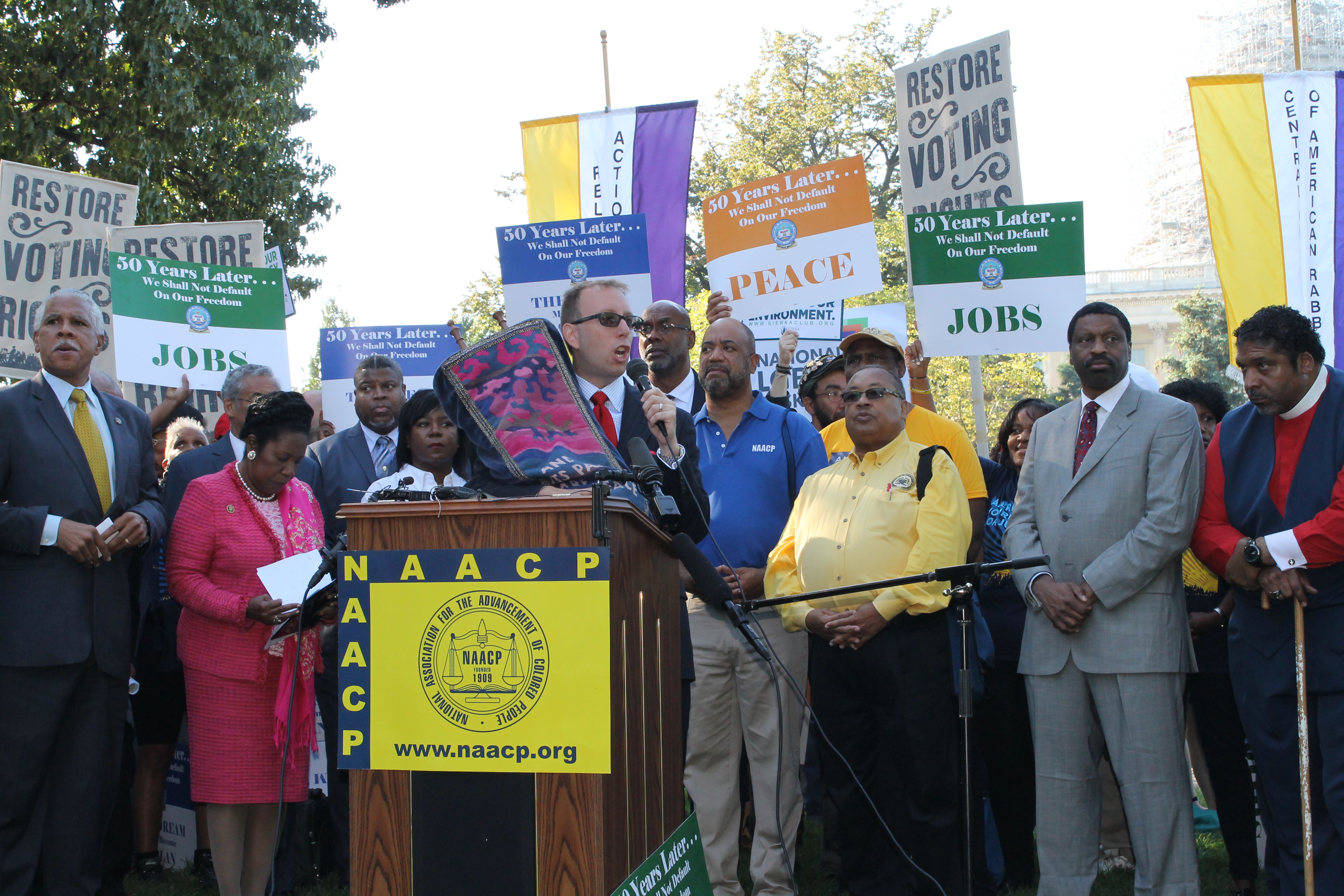 Rabbi Seth Limmer Speaking at the Journey for Justice rally