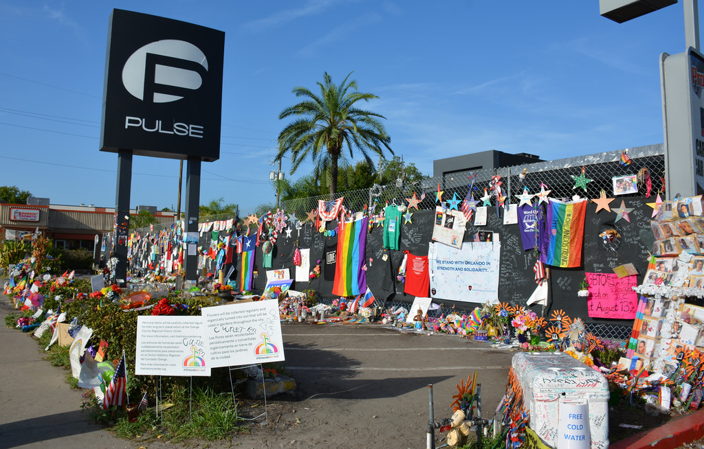 pulse nightclub with colorful memorial