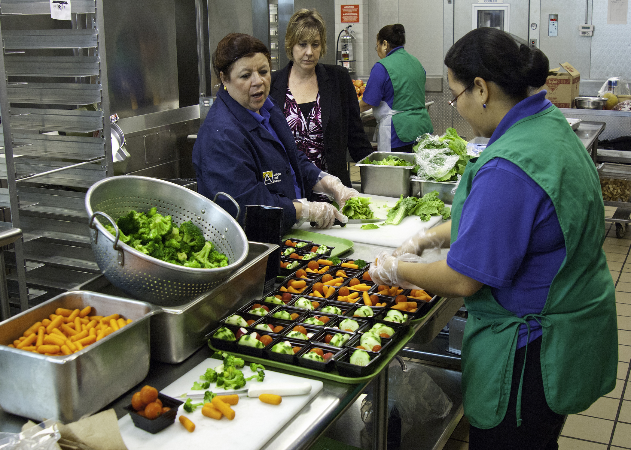 Free lunch preparation in schools