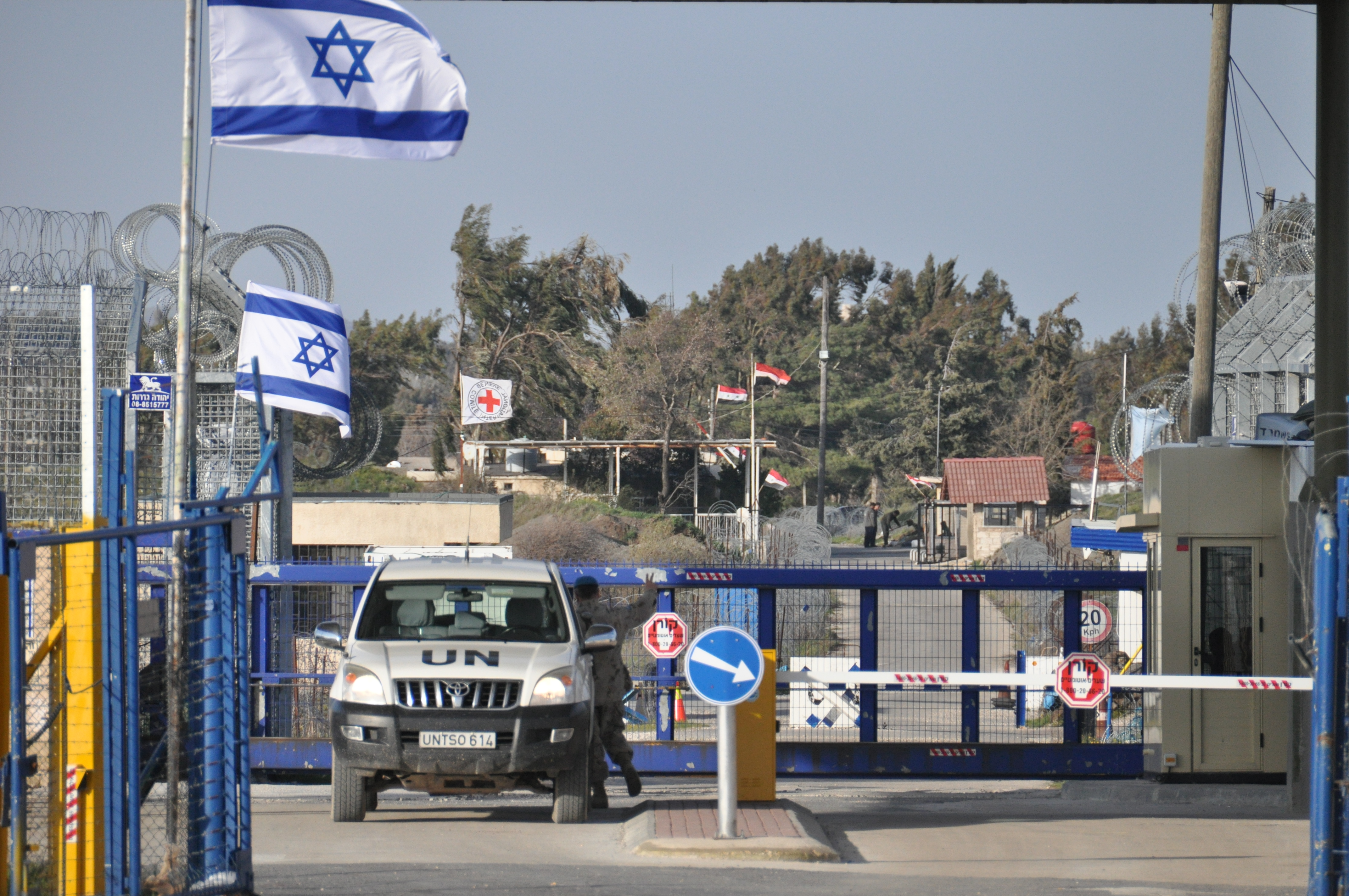An Israeli border crossing in the Golan Heights