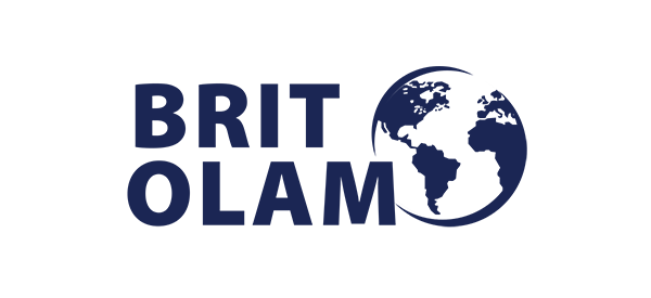 Brit Olam in text with globe
