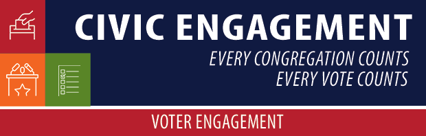 Civic Engagement header for voter engagement