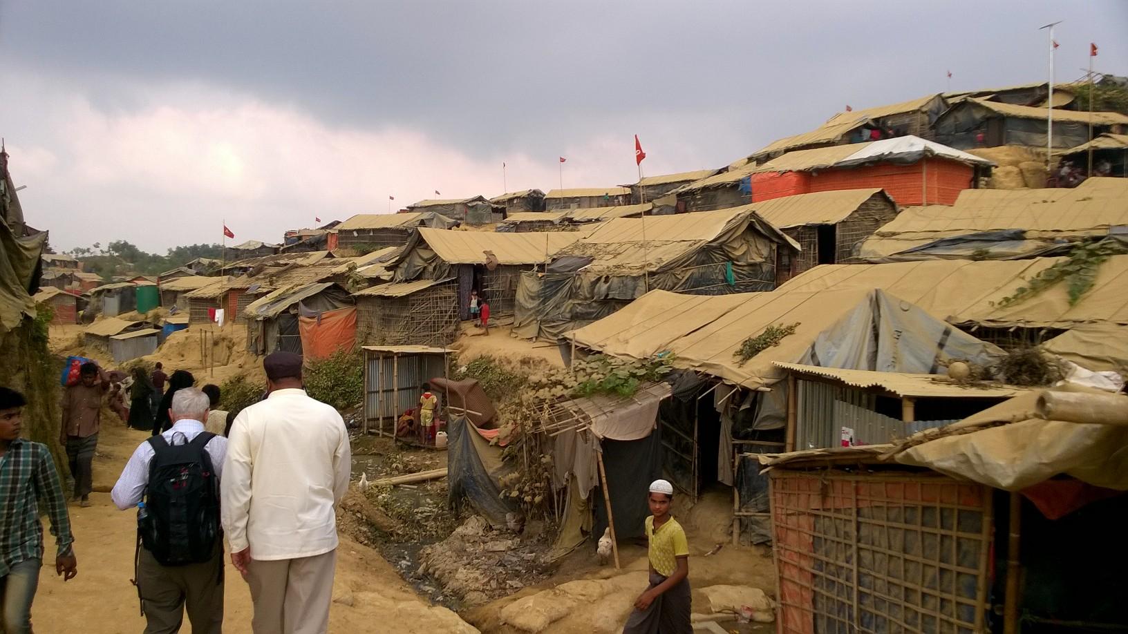 Rabbi David Saperstein visits a refugee camp in Bangladesh