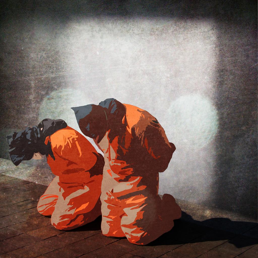 Painting of Prisoners at Guantanamo Bay