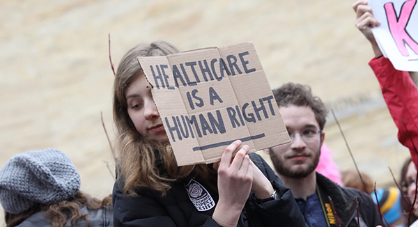 Womens March Pro-Healthcare Sign