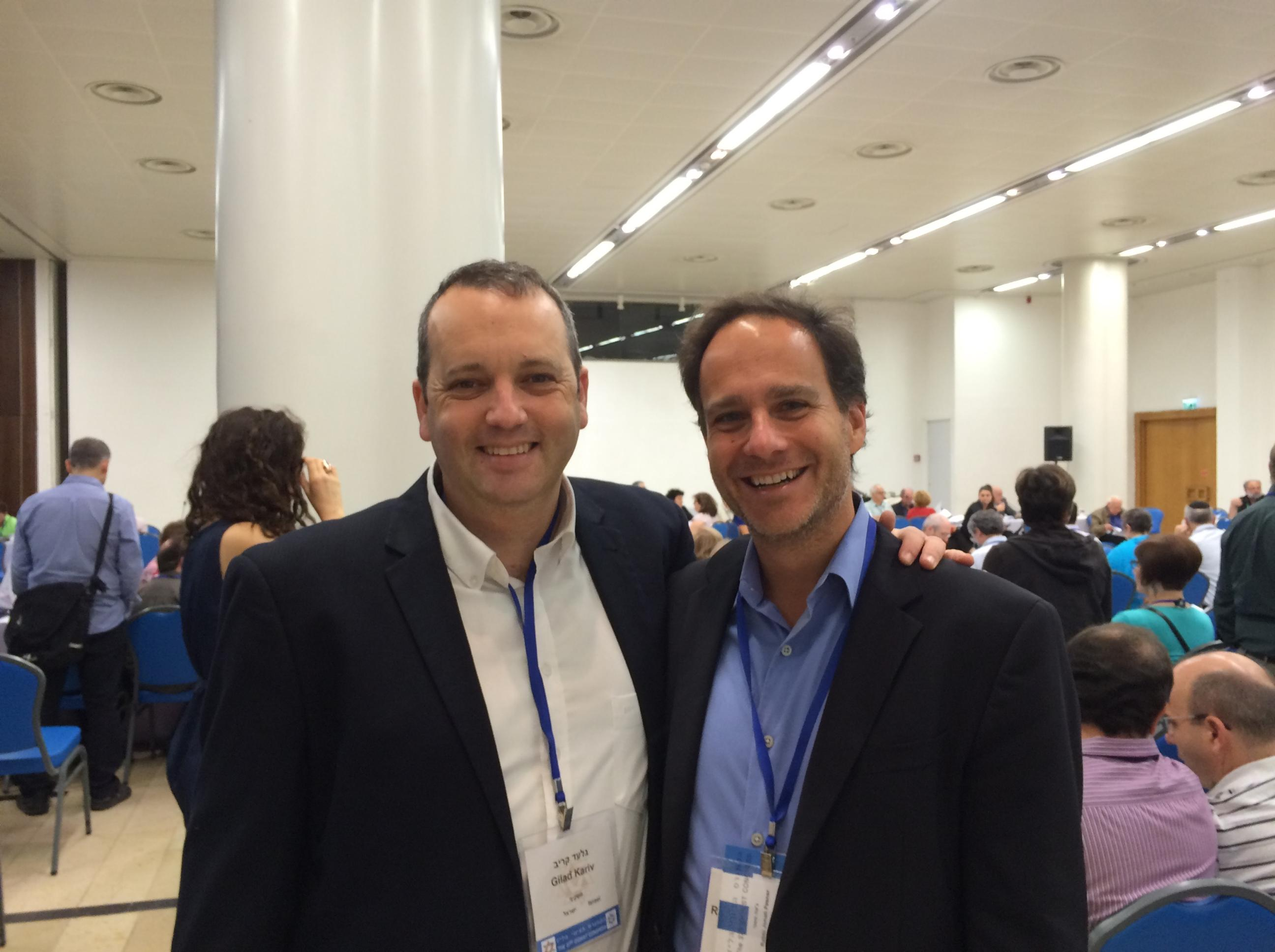 RAC Director Rabbi Jonah Dov Pesner with IMPJ Executive Director Gilad Kariv at the WZC