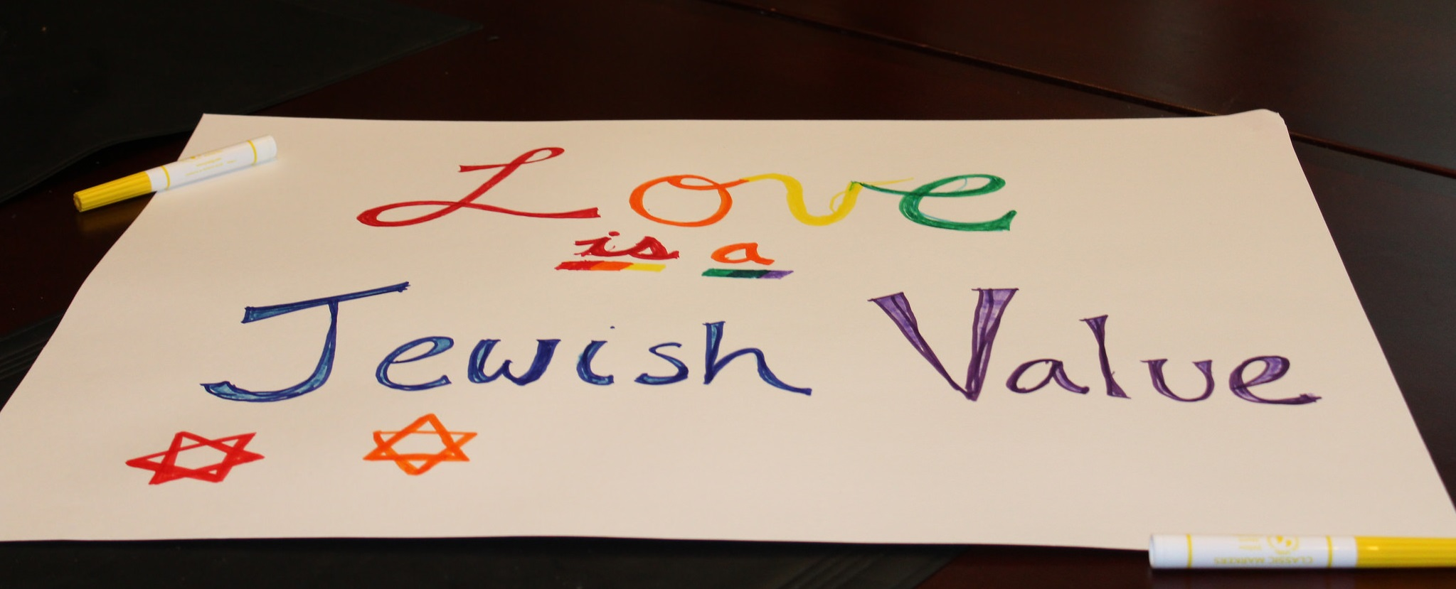 Love is a Jewish value sign