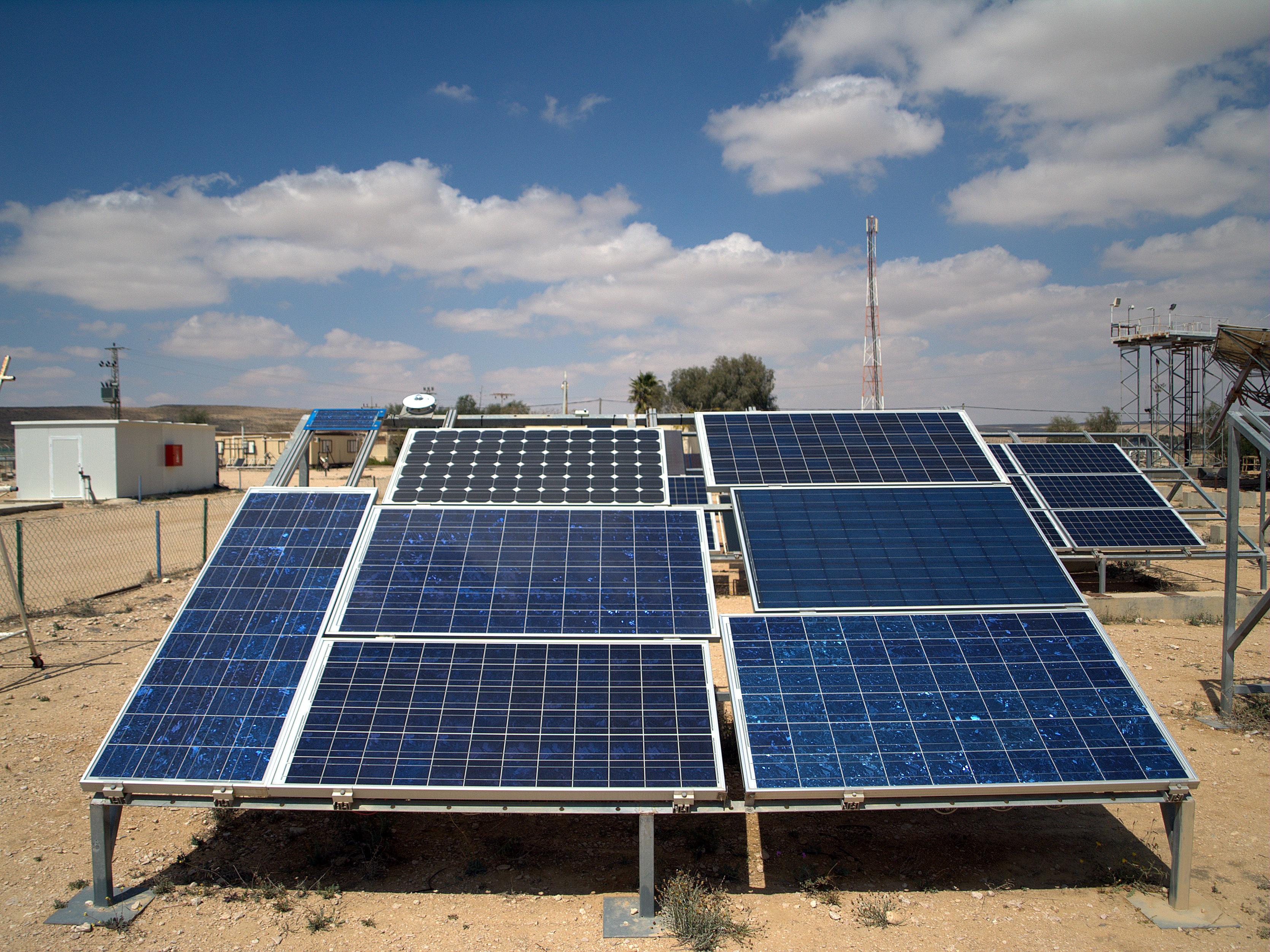 Photovoltaic arrays at the Israeli National Solar Energy Center