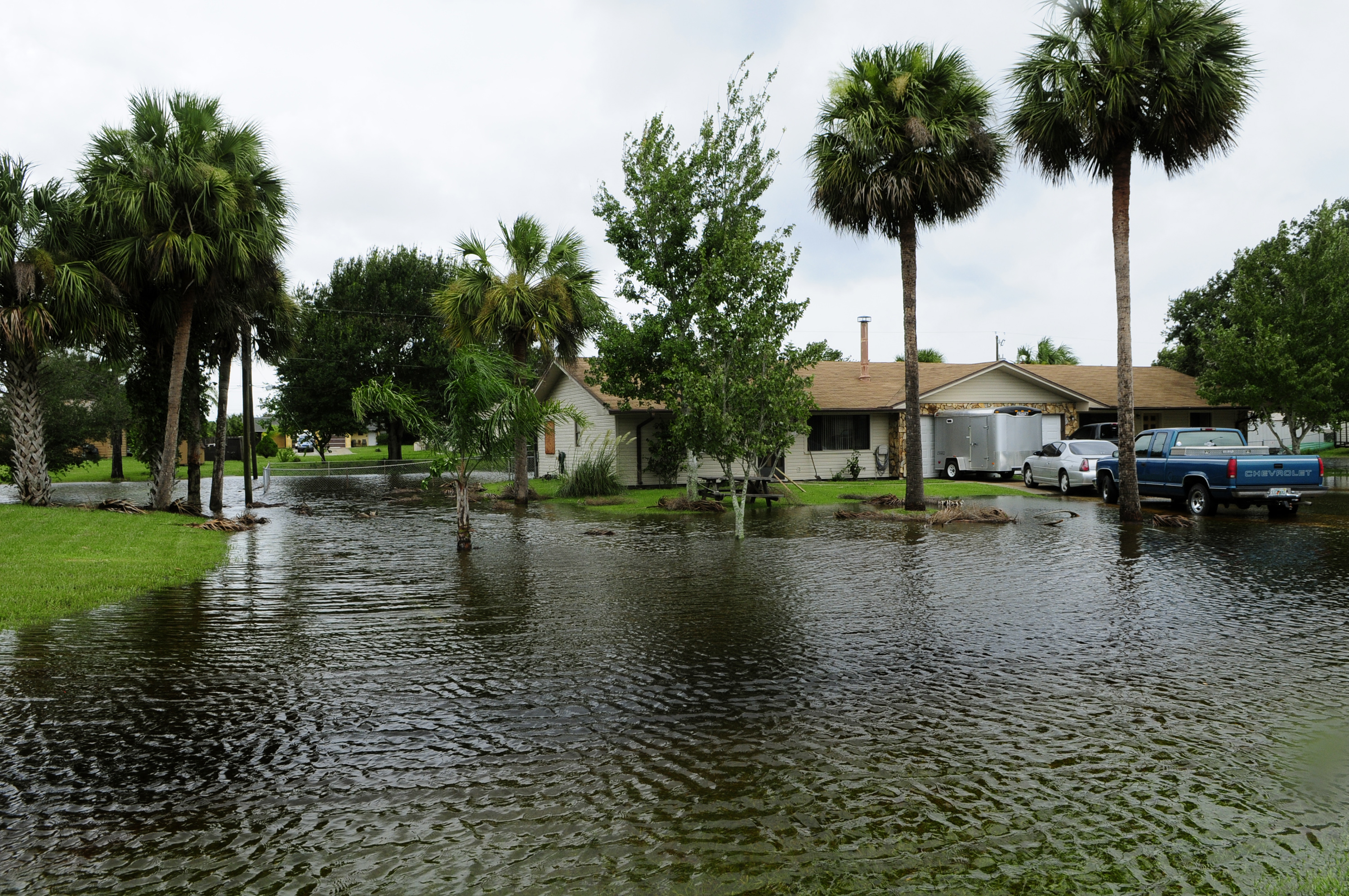 Flooded street in Florida