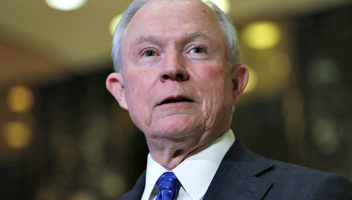 Senator Jeff Sessions looking off camera