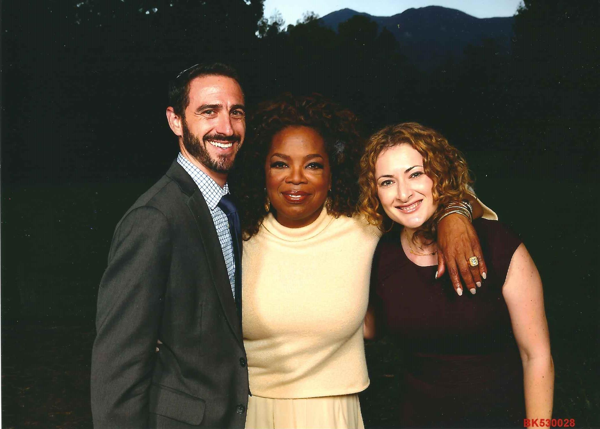 Joel and Ariella Thal Simonds with Oprah