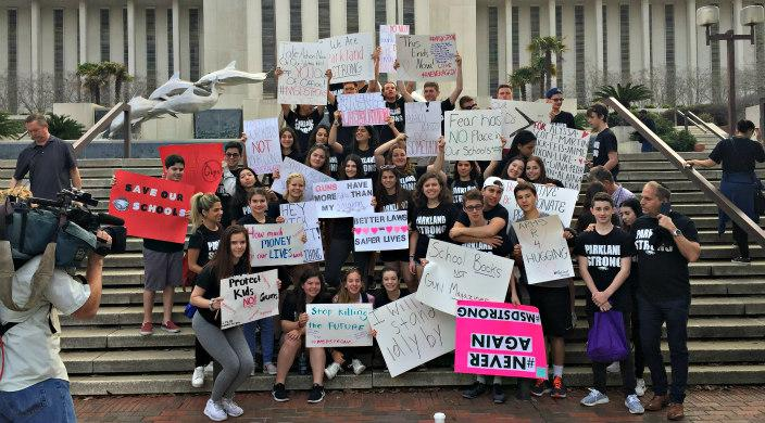 Teens lobby in Tallahassee, Fl for gun violence prevention