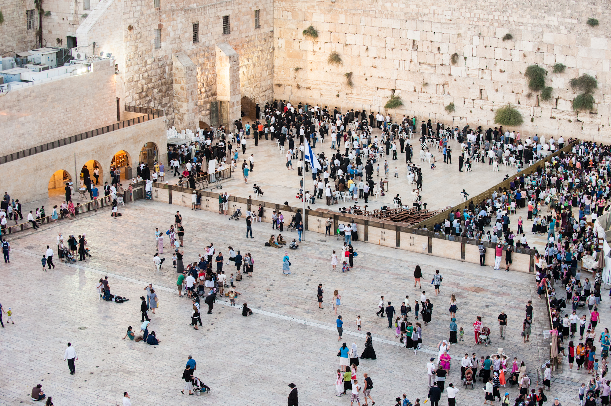 Worshipers at the Western Wall