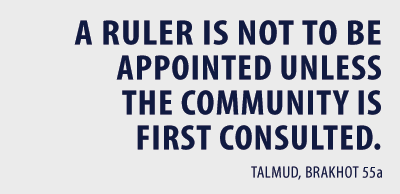a ruler is not to be appointed unless the community is first consulted