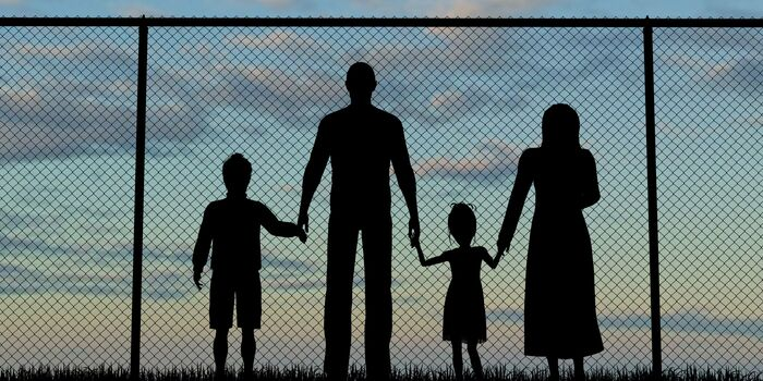 Family at the border