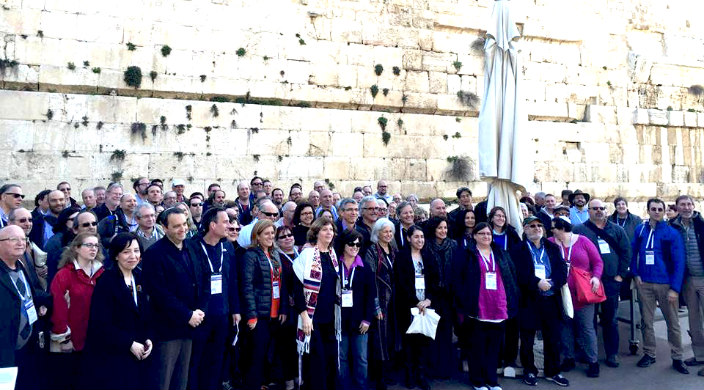 Reform Rabbis Gathered at the Kotel's Egalitarian Plaza