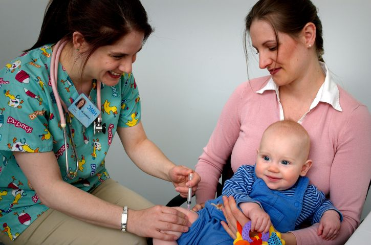 baby getting a vaccine