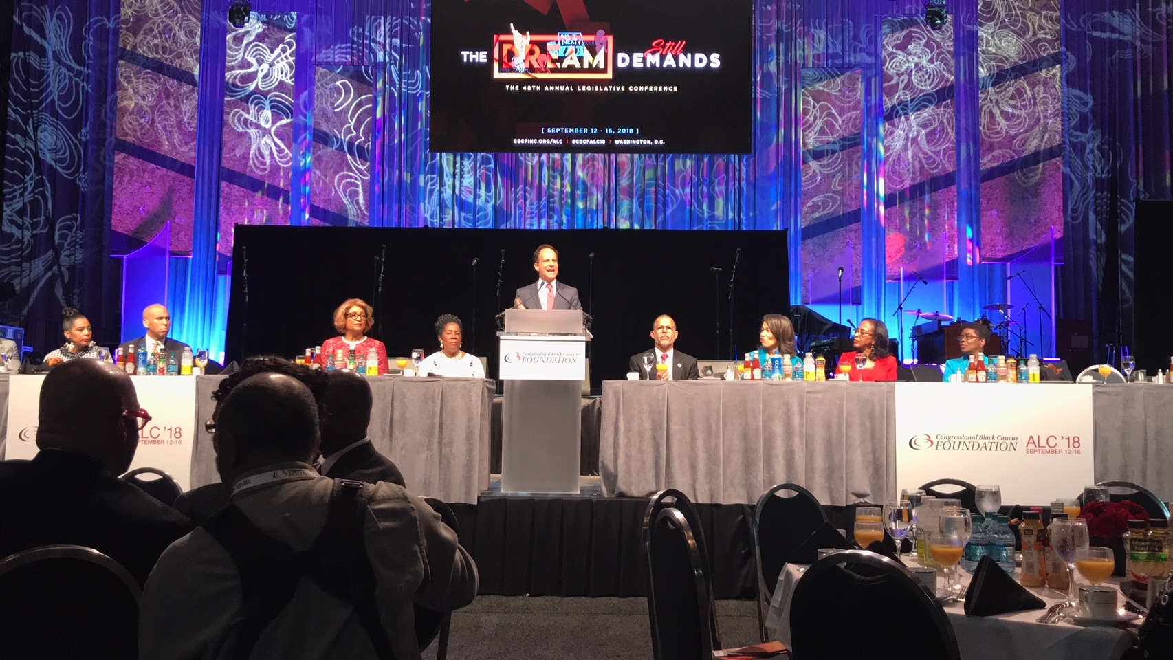 Rabbi Pesner speaks at the CBC prayer breakfast