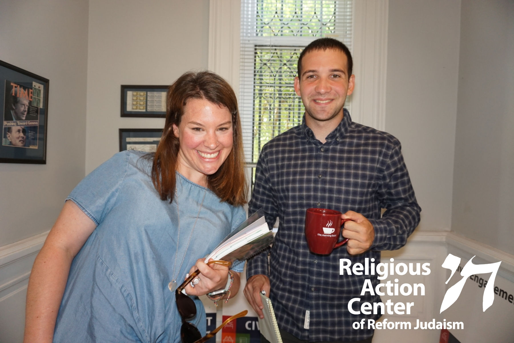 The author and his internship supervisor pose for a photo at the RAC office.