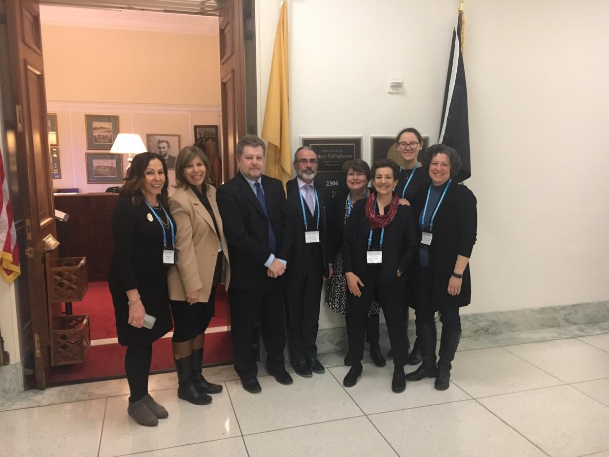 Sylvia Levy and JDAD participants lobby in Congressional offices