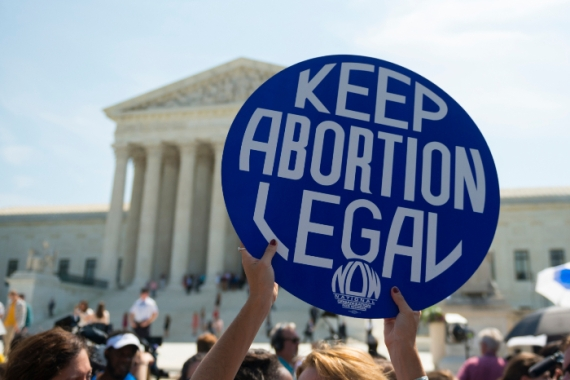 Sign reading KEEP ABORTION LEGAL