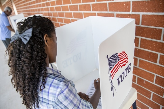 young person voting