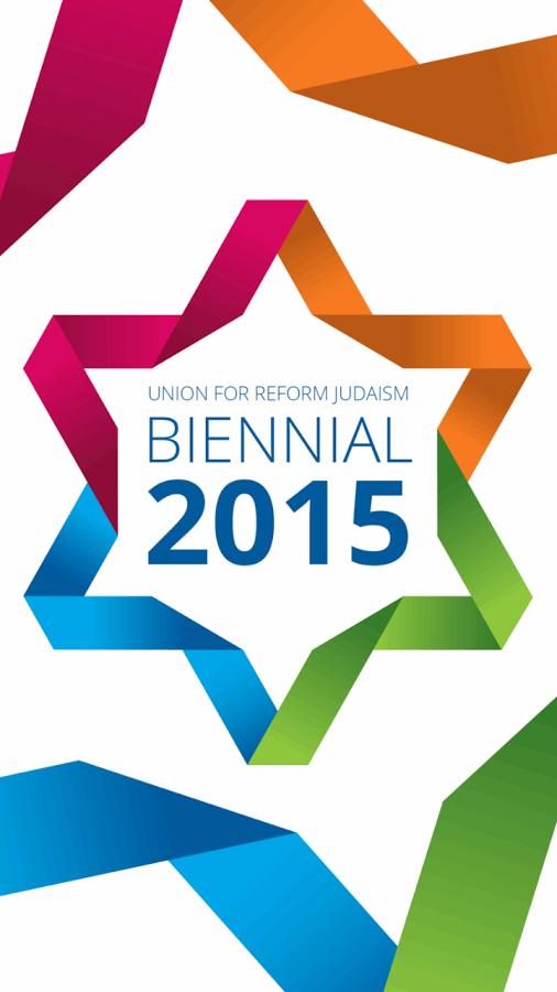 URJ Biennial 2015 logo